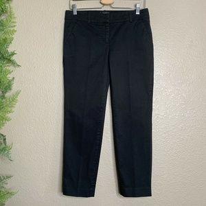 J. Crew Cafe Capri Pants Black Career Cropped 2